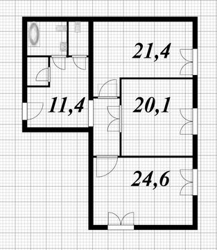 Продажа просторной 2-х комнатной квартиры 92 кв.м. с кухней 21,4 кв.м. - Фото 4