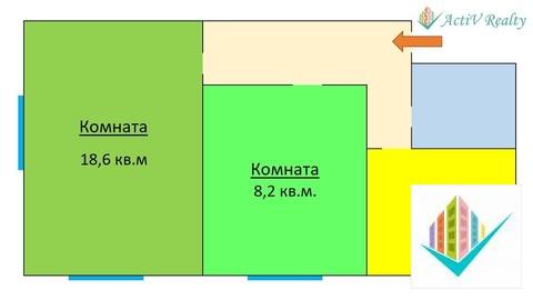 2-комнатная квартира с изолированными комнатами. - Фото 3