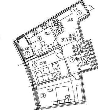 2-комнатная квартира ул. Галицкого - Фото 3