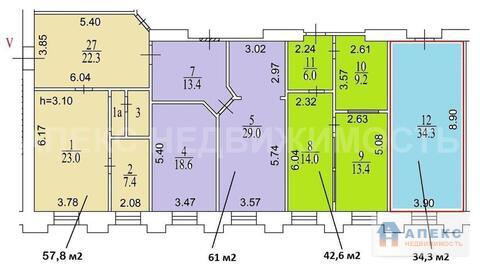 Продажа помещения пл. 58 м2 под офис, м. Тверская в административном . - Фото 2