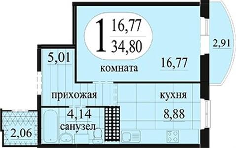 """Продаётся 1-комн.квартира в жилом комплексе """"Новоантипинский"""", ч/о - Фото 2"""