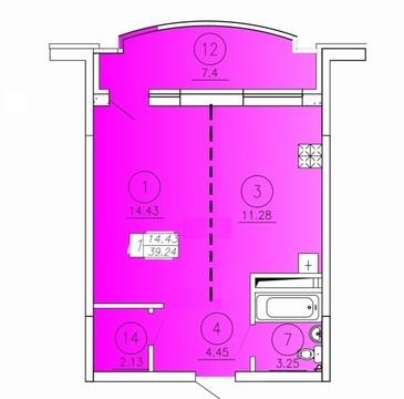 Новая 1-к квартира с предчистовой отделкой в историческом центре - Фото 2