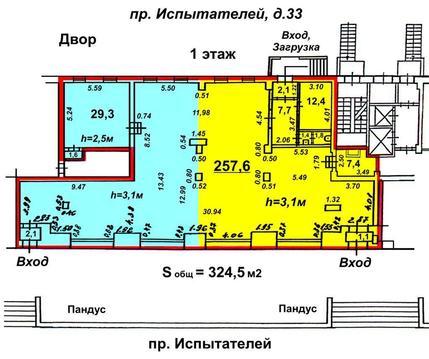 Cдам 324.5м (возм.частями), 1-эт, витр. на Миллер, у Комендантской пл. - Фото 4