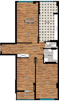 Трехкомнатная Квартира 100м2 в лучшем для жизни месте Севастополя - Фото 2