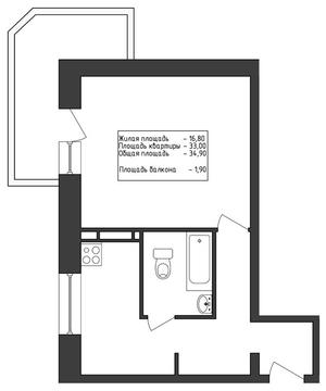Продам 1к. квартиру. Первомайская ул, д.17 к.2 - Фото 1