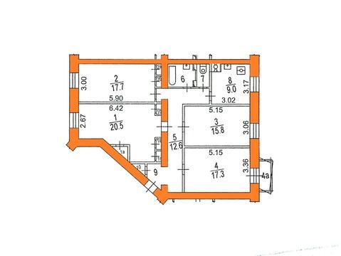 Продается комната 18 кв м в 4х ком кв-ре, Варшавское ш, д. 2 - Фото 1