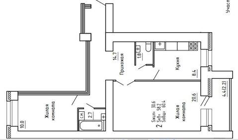 Продажа 2-комнатной квартиры, 61.1 м2, Пугачёва, д. 29а, к. корпус А - Фото 4