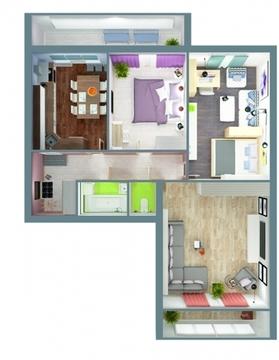 3-комнатная квартира на ул.Гвардейская - Фото 2