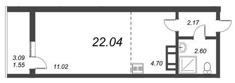 Продам студию. Воронцовский б-р к.А-Г, Купить квартиру Мурино, Всеволожский район по недорогой цене, ID объекта - 318417830 - Фото 1