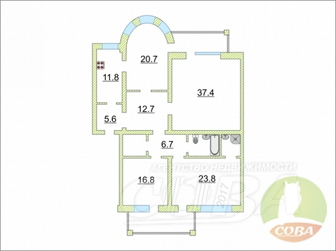 Продажа квартиры, Тюмень, Ул. Новосибирская - Фото 1