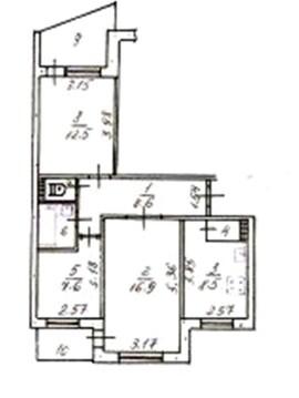 4 600 000 Руб., 3-х комнатная на бородина, Купить квартиру в Симферополе по недорогой цене, ID объекта - 321334382 - Фото 1