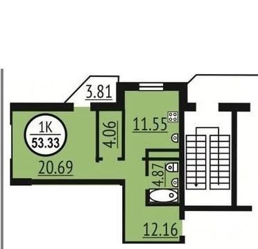 Продам большую 1-комнатную квартиру в новом доме - Фото 4