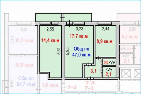 2-комн. квартира-апартаменты с хорошим ремонтом в центре Зеленограда - Фото 5