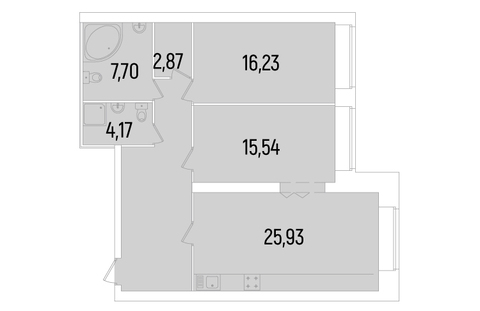 Продается двухкомнатная квартира комфорт класса в ЖК Сосновка - Фото 3
