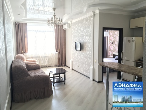"""1 комнатная квартира класса """"Люкс"""", Сакко и Ванцетти, 59, Купить квартиру в Саратове по недорогой цене, ID объекта - 321437798 - Фото 1"""