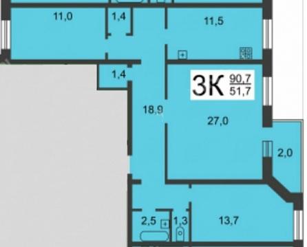 Продажа 3-комнатной квартиры ул. Тираспольская д. 11 - Фото 2