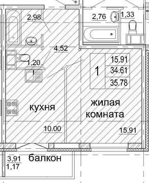 1ккв рядом с метро, ЖК Солнечный - Фото 3