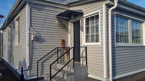 Каменный Дом 84кв.м.+Баня+Гараж на 12сот. п.Заокский, свет, газ, вода - Фото 1