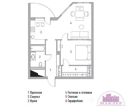 Продается 2к-квартира, Красногорский р-н, ЖК «Новорижский» - Фото 2