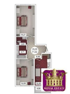 Продам 2-х комнатную кв-ру 75 м2 в ЖК «Castle Houses» ул.Аэрофлотская - Фото 1