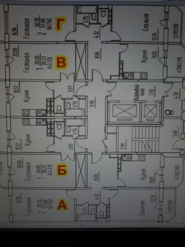 2 комнатная квартира Домодедово, ул. Гагарина, д.63 - Фото 3