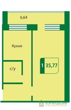 1 комнатная квартира в новом готовом доме, ул. Стартовая,7 - Фото 2
