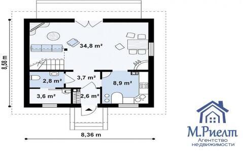 Дом 107 м2, 4 к, 2,29 млн, Западный-2, Тополиная - Фото 3
