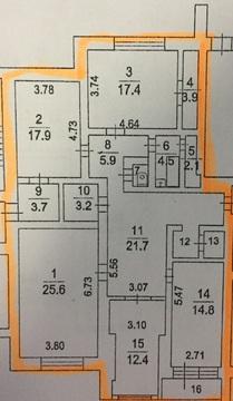 4-х комнатная квартира 145 кв.м. в центре города - Фото 4