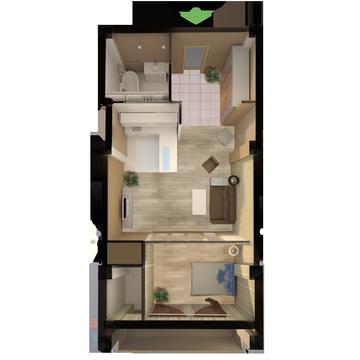 Снижена цена на просторную студию в новом доме в Массандре! - Фото 1