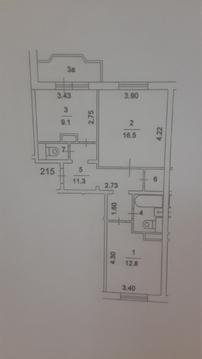 2-х комнатная квартира,2 санузла, м.Кузьминки