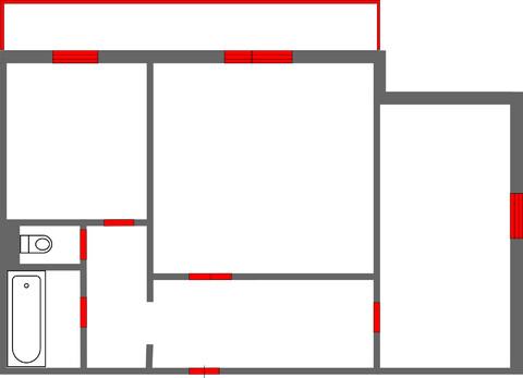 Продам 2-комн. квартиру 53 кв. м. ул. Шумяцкого
