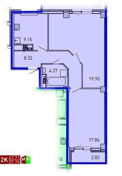 3 999 156 Руб., Продажа двухкомнатная квартира 67.71м2 в ЖК Рощинский дом 7.3. секции ., Купить квартиру в Екатеринбурге по недорогой цене, ID объекта - 315127677 - Фото 1