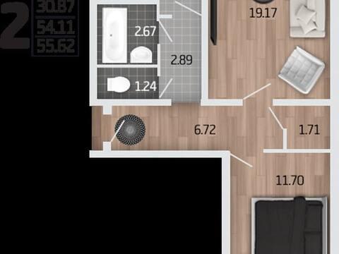 2 255 113 Руб., Продажа двухкомнатной квартиры в новостройке на Корейской улице, влд6а ., Купить квартиру в Воронеже по недорогой цене, ID объекта - 320573615 - Фото 1