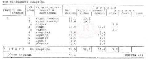 Продаю 2 ком. квартиру, 77м2, Ленинградское ш, 98к6 - Фото 4