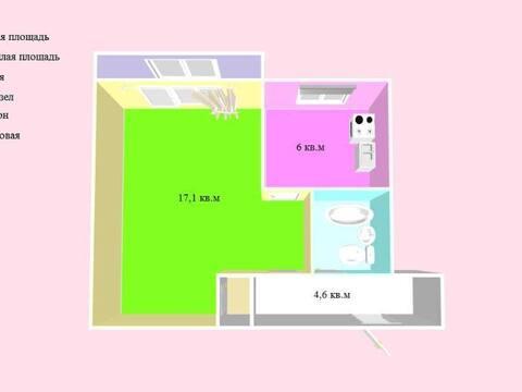 Продажа однокомнатной квартиры на Красноармейской улице, 285 в ., Купить квартиру в Черкесске по недорогой цене, ID объекта - 319818797 - Фото 1