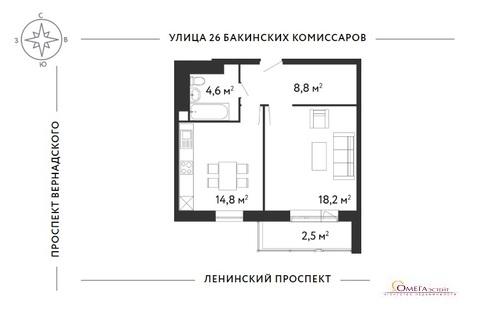 Продам 1-к квартиру, Москва г, Ленинский проспект 154к2с1 - Фото 3