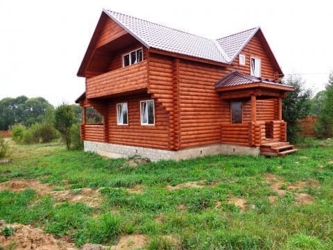 Продается новый дом с коммуникациями и газом в жилой деревне - Фото 1