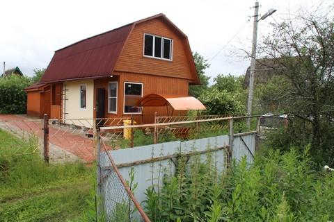 Дача кирпично-брусовая на участке 4 сотки в СНТ Агрохимик - Фото 1