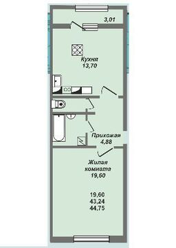 1 комнатная квартира в ЖК Университетский - Фото 2