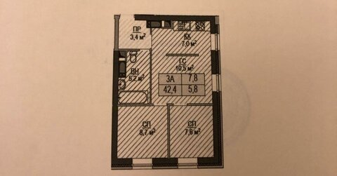 2-х комнатная квартира, Красногорск, ул. Авангардная, д.8. - Фото 4