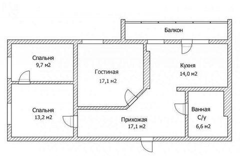 Продажа квартиры, Тюмень, Ул. Широтная, Купить квартиру в Тюмени по недорогой цене, ID объекта - 327833729 - Фото 1