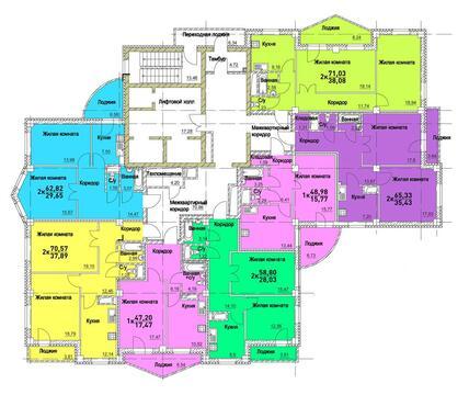 Продажа двухкомнатная квартира 71.03м2 в ЖК Европейский кольцевая 36 - Фото 2