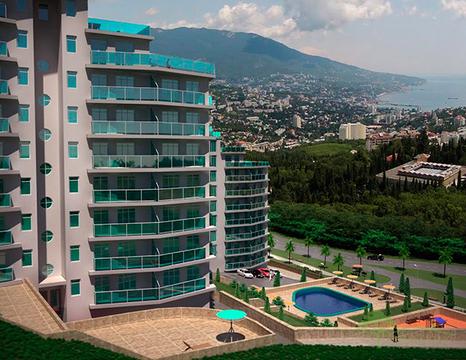 Однокомнатная квартира в жилом комплексе пгт Виноградное, Ялта - Фото 1