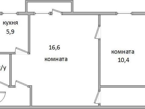 Продажа двухкомнатной квартиры на улице Глаголева, 8 в Калуге, Купить квартиру в Калуге по недорогой цене, ID объекта - 319812400 - Фото 1