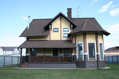 Загородный дом 250 кв м с гаражом, Киевское ш, 19 км от МКАД, охрана - Фото 2