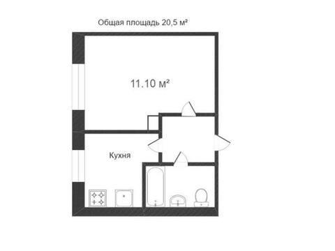 Продажа однокомнатной квартиры на улице Вишневского, 13 в Калуге, Купить квартиру в Калуге по недорогой цене, ID объекта - 319812776 - Фото 1
