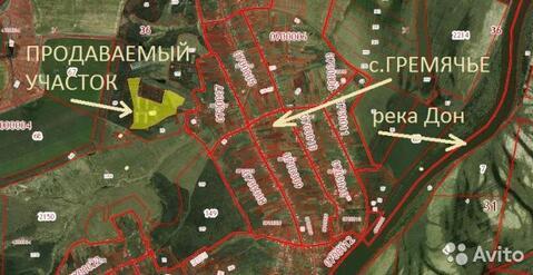 Продажа участка, Гремячье, Хохольский район - Фото 1