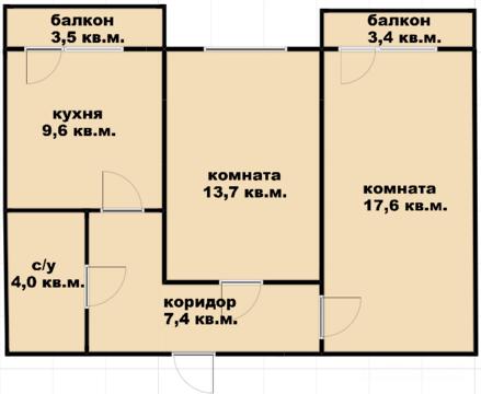 Продам 2-к квартиру, Новая Адыгея, Бжегокайская улица 90/1к2 - Фото 3
