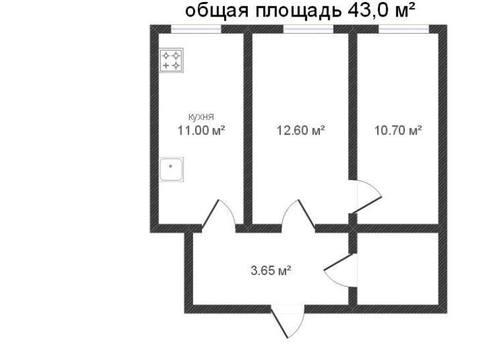 Продажа двухкомнатной квартиры на улице Ленина, 98 в Калуге, Купить квартиру в Калуге по недорогой цене, ID объекта - 319812819 - Фото 1