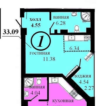 1 ком квартира в Центре - Фото 4